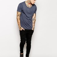 ASOS T-Shirt With Scoop Neck 2 Pack Save 17%