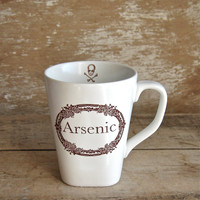 Arsenic Poison Mug, Apothecary Label, Macabre Humor, 14 oz Coffee Cup, Ready to Ship