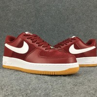 Women's and Men's NIKE AIR FORCE 1 MID 07 cheap nike shoes red 038