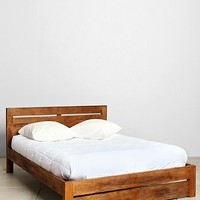 Wooden Platform Bed - Urban Outfitters