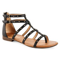 Report Womens Report Bellini Gladiator Sandals - Black,