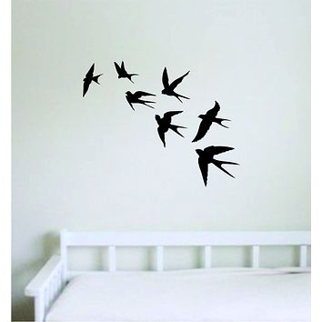 Birds Flying V2 Wall Decal Home Decor Sticker Room Art Vinyl Beautiful Animal Nature Cute Baby Nursery Teen Kids School