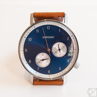 KOMONO Walther Crafted Series Watch in Cognac