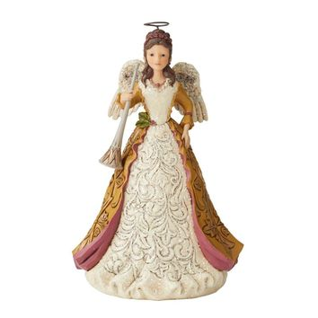 Jim Shore HWC Victorian Angel Holding Horn - 6004182