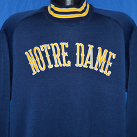 80s Notre Dame Fighting Irish Ringer Sweatshirt Extra Large