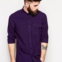 ASOS | ASOS Shirt In Long Sleeve With Twist Yarn at ASOS