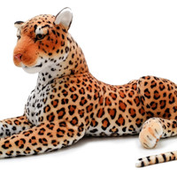 Viahart 40 Inch Leopard Cat Stuffed Animal Plush - Lahari The Leopard