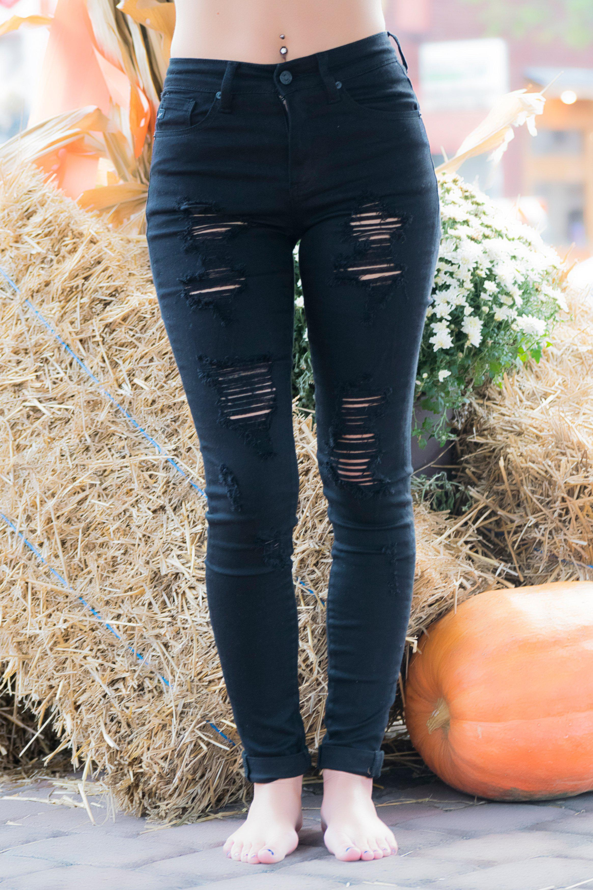 Image of Emberly High Rise KanCan Black Distressed Jeans