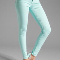 7 For All Mankind The Skinny Slim Illusion in Bright Aqua from REVOLVEclothing.com