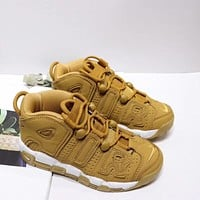 """Nike Air More Uptempo """"Wheat"""" Toddler Kid Shoes Child Sneakers - Best Deal Online"""