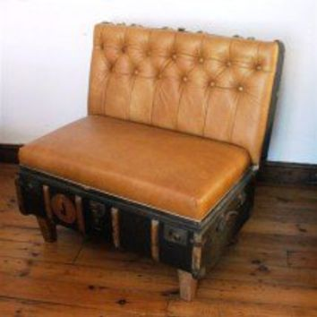 Suitcase Chair ? Butternut Leather Holland ? Seating ? Recreate