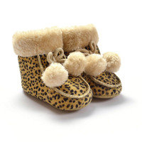 Baby Girl Boy Toddler Infant Soft Sole  Snow Keep Warm Crib Shoes Fur Boot 0-18 Months