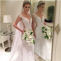Sexy Mermaid Wedding Dress , Bridal Gown ,Dresses For Brides, PM0018