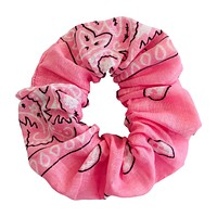 Scrunchie, Pink Bandana Fabric