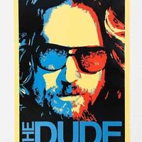 Big Lebowski The Dude Poster - Urban Outfitters