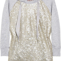 Juicy Couture Sequin-embellished hooded cotton top – 55% at THE OUTNET.COM