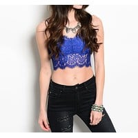 Lace Bralette in Blue