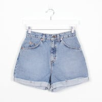 Vintage Levis Shorts Blue Denim Shorts 1990s Shorts Soft Grunge Shorts 90s Shorts High Waisted Shorts Blue Jean Shorts Levis 910 7 S Small