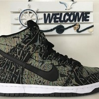 Nike SB Dunk High Psychedelic rock totem 313171--029 Size 36---45