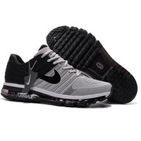 Tagre™ NIKE AIR MAX Fashion Sport Casual Shoes Sneakers Gray toe