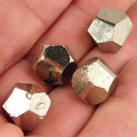 Lot of FOUR Small 100% Natural Dodecahedron Pyrite Crystals! from Peru 26.3gr e