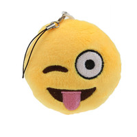 Fantastic Lovely Cheerful Emoji Smiley Emotion Amusing Key Chain Soft Toy Gift Pendant Bag Accessory Free shipping