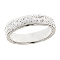 Jeremiah 29:11 Sterling Silver Ring