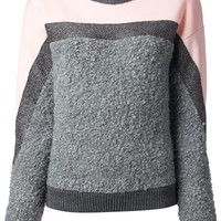 MSGM Contrasting panelled Sweater