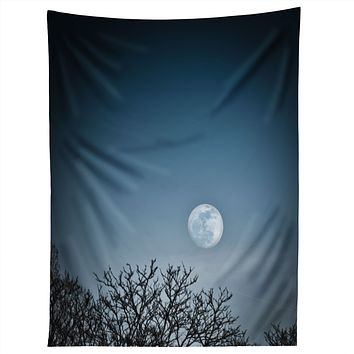 Bird Wanna Whistle Moon Tapestry