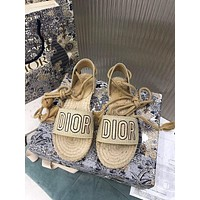 DIOR Women Casual Shoes Boots fashionable casual leather Women Heels Sandal Shoes-3