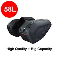 2016 newest Komine SA-212 motorcycle saddle bags tail bag luggage suitcase motorcycle Rear seat bag with waterproof cover