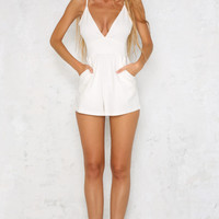 Mile High Playsuit White