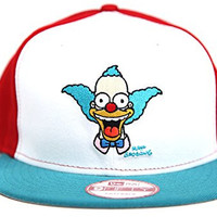 The Simpsons Krusty the Clown White Aqua Red Krusty Silhouette New Era Snapback