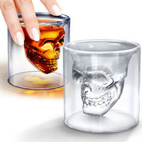 Transparent Crystal Skull Head Shot Glass Cup For Whiskey Wine Vodka Home Drinking Wineglass