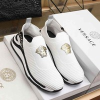 DCCK Versace Men Fashion Sneakers Sport Shoes White
