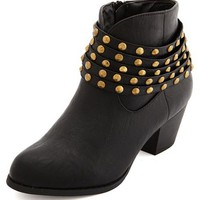 Studded Ankle Strap Bootie: Charlotte Russe