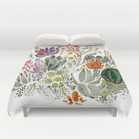 Succulents Duvet Cover by Hannah Margaret Illustrations