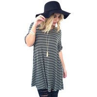 Rival Tunic & Shift Dress In Olive