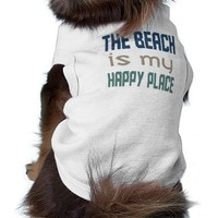 The Beach Is My Happy Place Dog Tee
