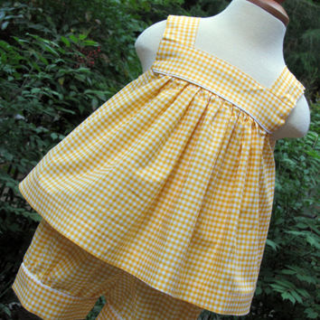 Classic Gingham Summer Set with Flat Front Banded Shorts