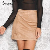 Remi Suede Mini Skirt