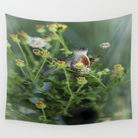 Hello Lizard Wall Tapestry by Forand Photography
