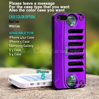 Jeep Wrangler Purple - For iPhone 5 Black Case Cover