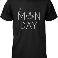 Funny Graphic Statement Mens Black T-shirt - Monday