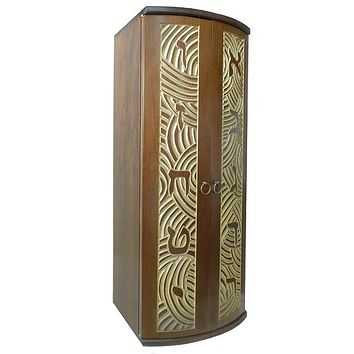 Aron Kodesh Portable Hand Carved Curved Doors