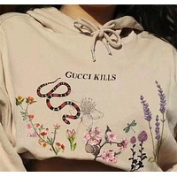 Gucci Women Trending Print Hoodie Top Sweater