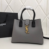 ysl women leather shoulder bags satchel tote bag handbag shopping leather tote crossbody 53