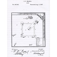 Our National Ball Game Patent Poster - Patent Poster - Office Art - Game Patent