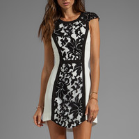 Cameo Into the Flame Dress in White/Black from REVOLVEclothing.com