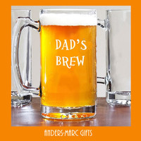 Dad's Brew!  25 oz Beer Mug Daddy or Grandpa Gift! Fathers' Day Mug can be personalized & engraved with kids' names. Gift for him under 20!